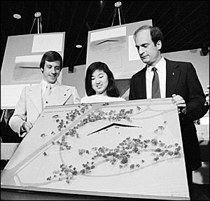 Jan Scruggs, Maya Lin, and Bob Doubek